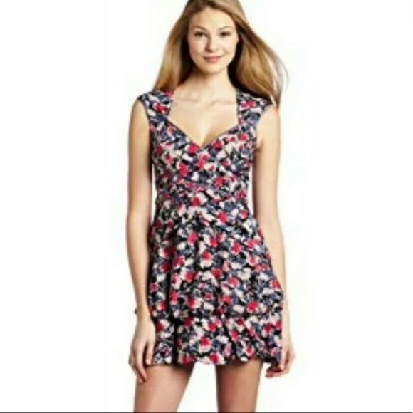 JESSICA SIMPSON SWEETHEART POPPY FLORAL DRESS 12
